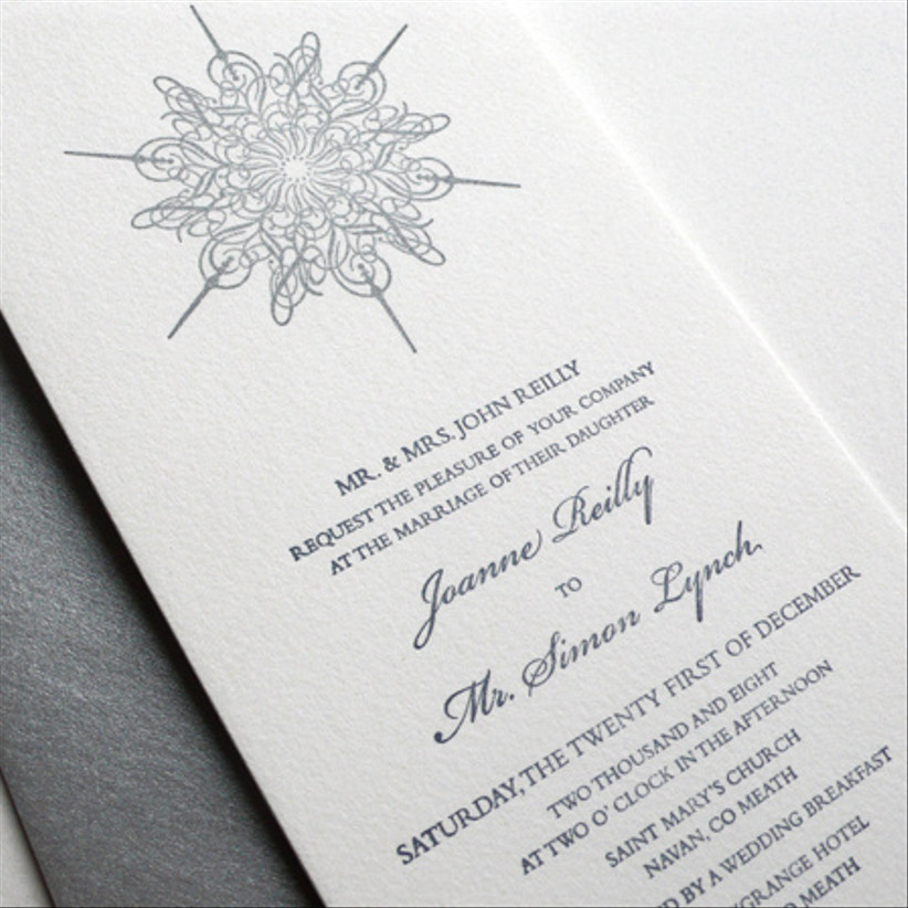 Ice Flake Wedding Suite — Farrell & Chase