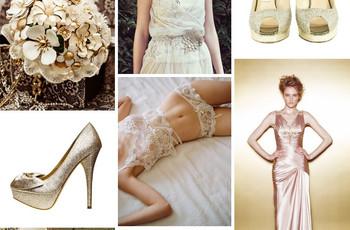Gold and Ivory Wedding Attire