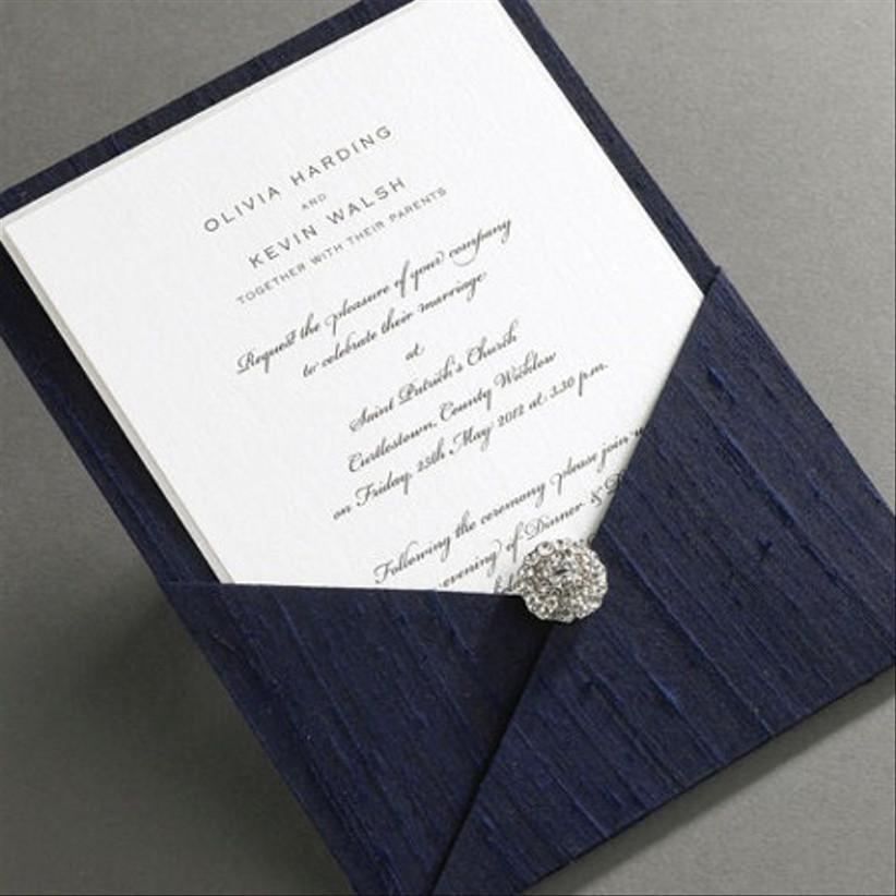 Elegant Silk Pocket Invitation — Finer Details