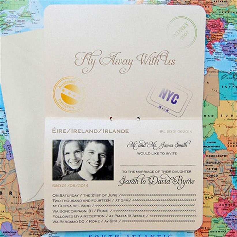 Passport Invitation — Lots of Love Invitations
