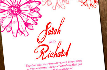 Kick-Start Your Wedding Theme by Sending Floral Wedding Invites