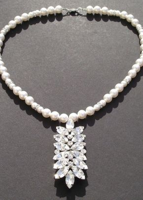 Pearl and rhinestone necklace, Jules Bridal Jewellery