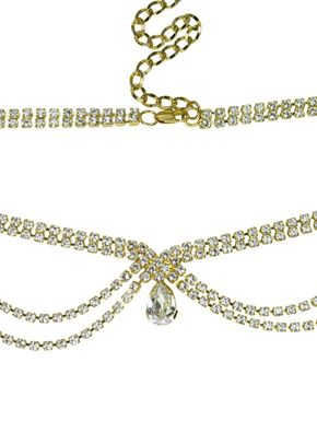 Grace Luxe Browband Antique Gold, Crystal Bridal Accessories
