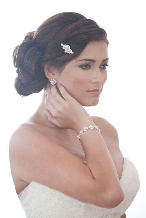 Pearl & Crystal Slide, Crystal Bridal Accessories
