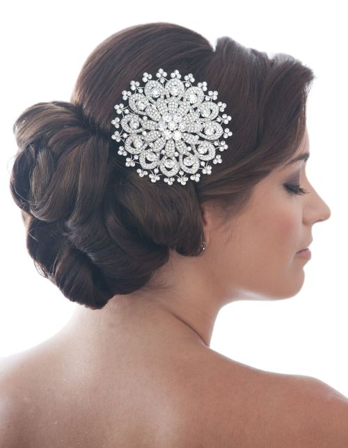 Sunflower Comb, Crystal Bridal Accessories