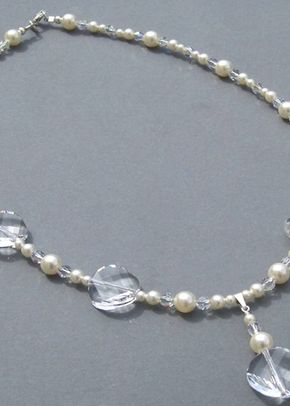 Swarovski crystal and sterling silver necklace, Jules Bridal Jewellery