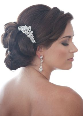 Swirl Pearl & Crystal Comb 2, Crystal Bridal Accessories