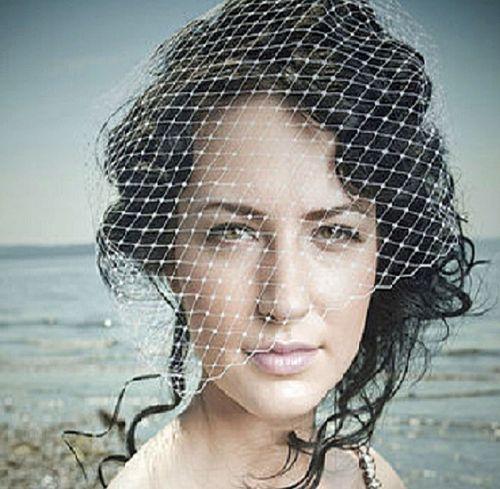S. Bird cage style veil, Disgraceful Grace