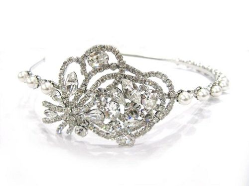 Bridal Bouquet Side Tiara, 3D Jewellery