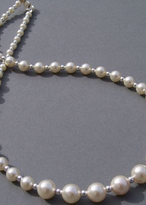 Graduated pearl and sterling silver necklace, Jules Bridal Jewellery
