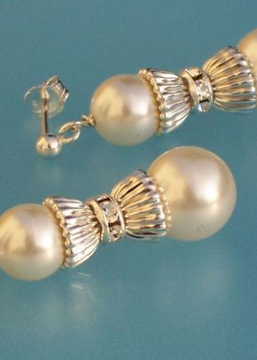 Ivory pearl drop earrings, Jules Bridal Jewellery