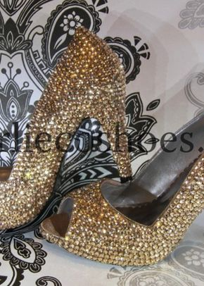 Champagne peep toes, Charlie Co Shoes