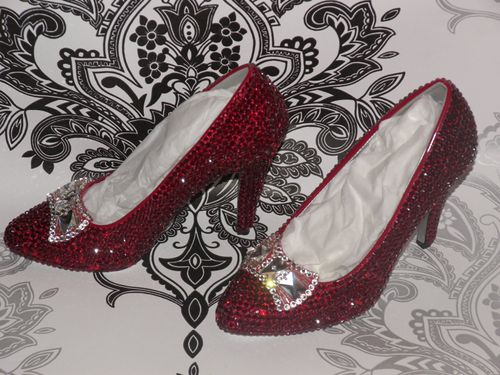 Stiletto Crystal Ruby Slippers, Charlie Co Shoes