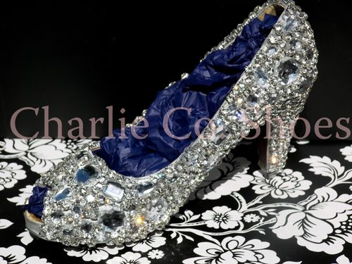 Diamond Frost Peep Toes, Charlie Co Shoes
