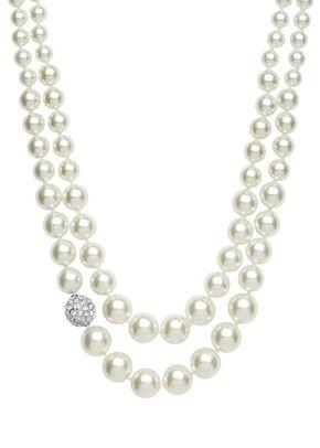 Double Row Pearl Necklace, Jon Richard Jewellery
