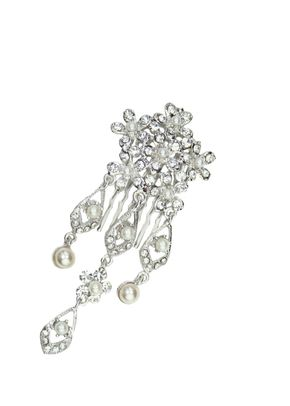 Juliet Pearl & Crystal Comb, Crystal Bridal Accessories