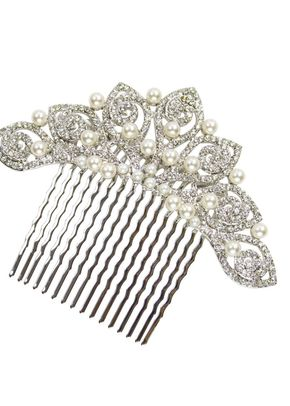 Swirl Pearl & Crystal Comb, Crystal Bridal Accessories