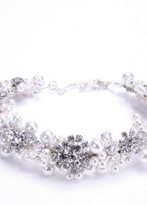 Bridal hairband set with diamante, Jules Bridal Jewellery