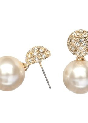 Gold Pave Drop Earrings, 221