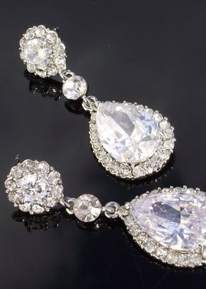 Maisy Teardrop Earrings, Jules Bridal Jewellery