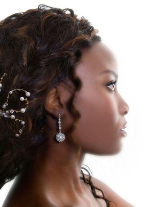 Pearl spray twist and drop crochet earrings, Rangoli