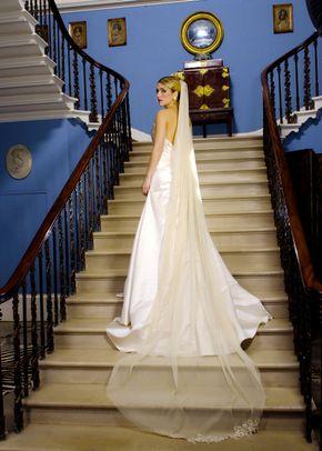 Cherie Shimmer Tailpiece Veil, Visionary Veils