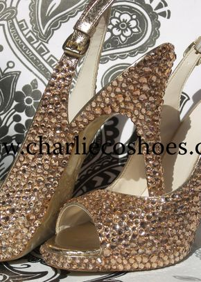 Champagne sling backs, Charlie Co Shoes