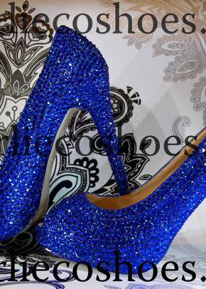 Cobalt Blue Platform Peep Toes, Charlie Co Shoes