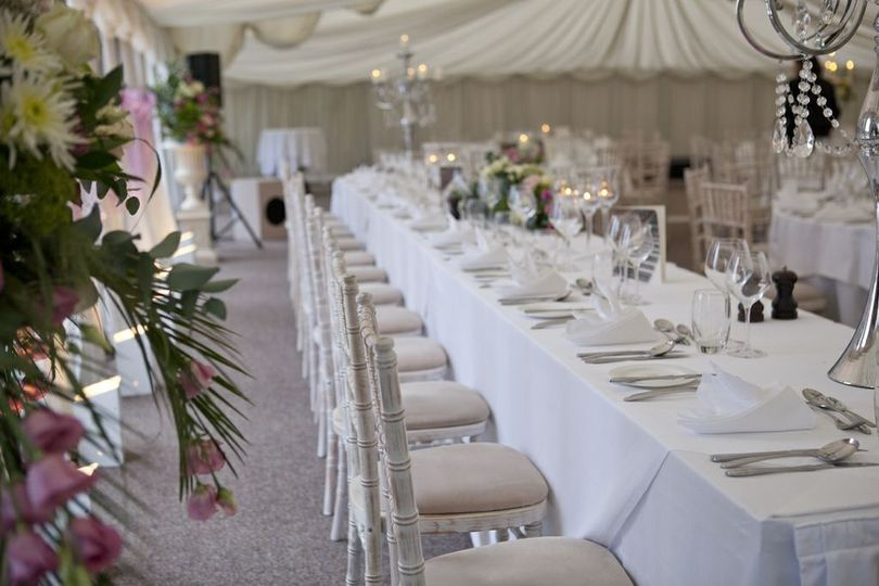 Wedding Head Table in Pavilion