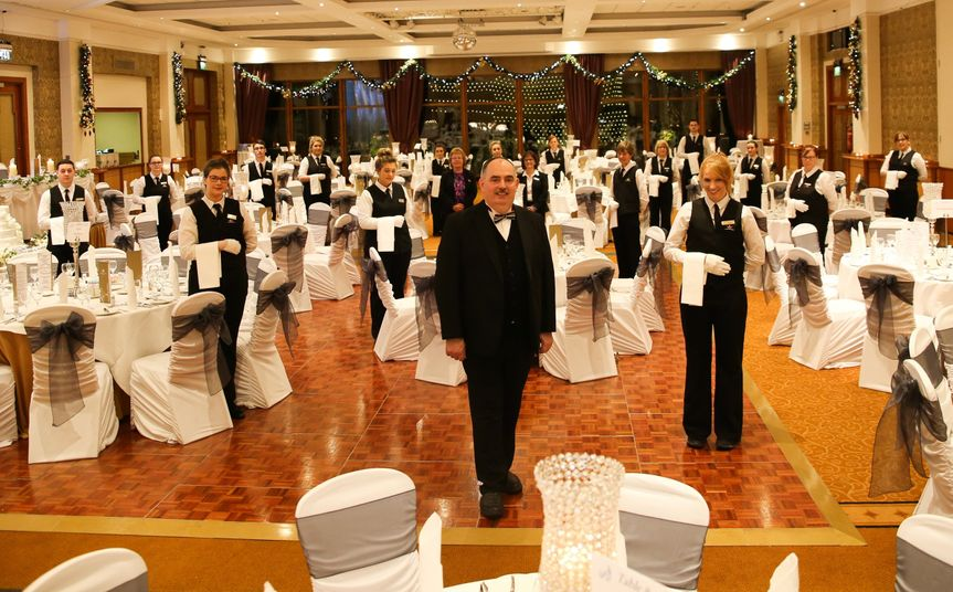 Banqueting Manager Martin Tempany with his team