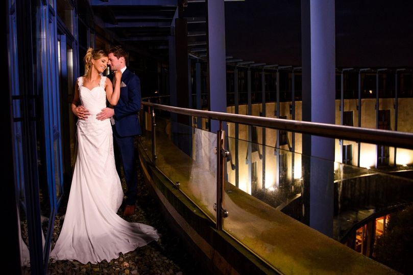 Bride and Groom on our balcony
