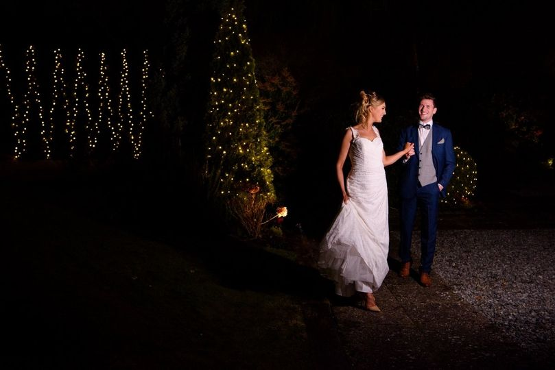 Bride and Groom in our private garden