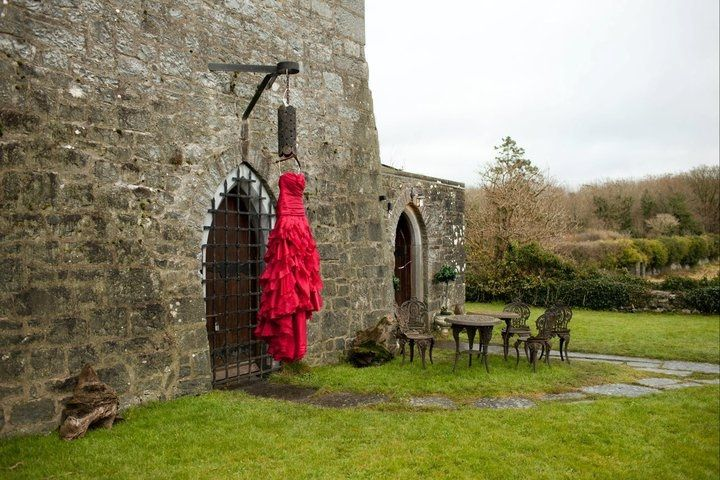 A Red dress for a winter wedding