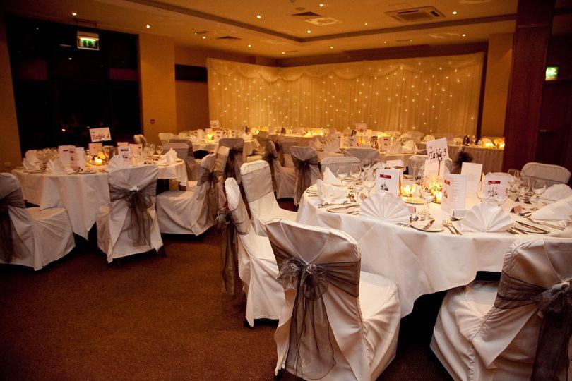 'Golden Vale' Wedding Room Set Up
