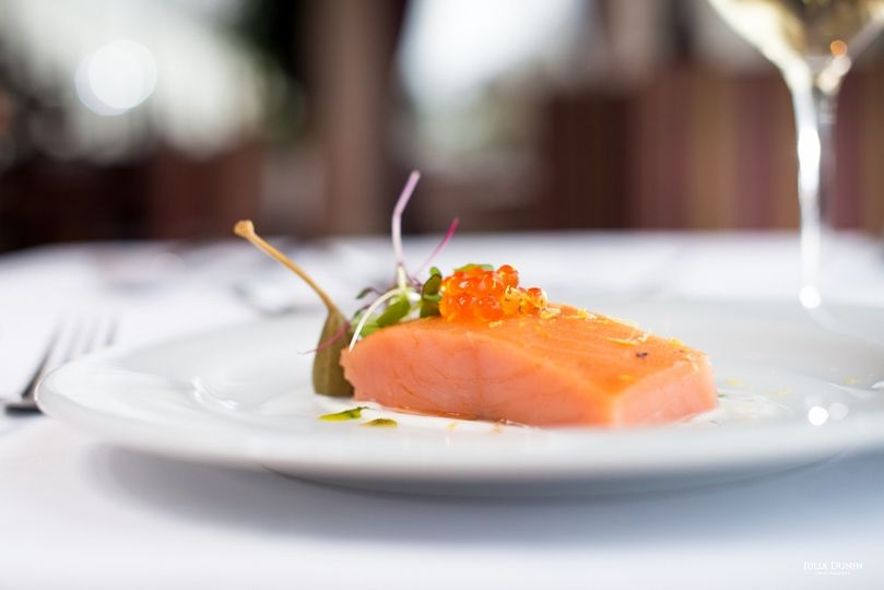 Delicate baked supreme of Salmon