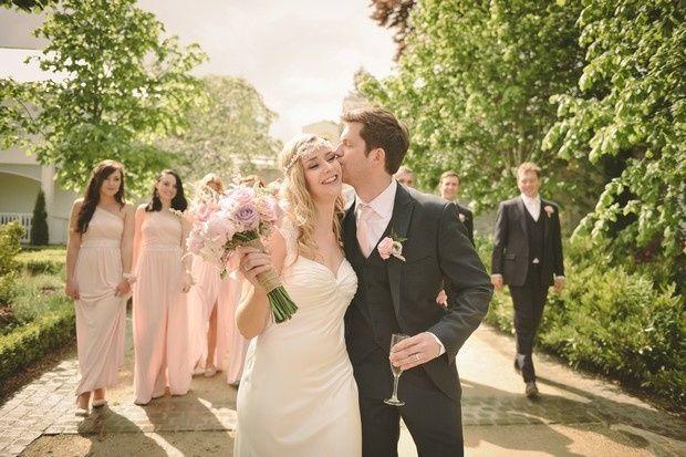 Couple enjoying their wedding at Tulfarris