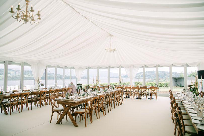 The Avon Lakeshore Pavilion Wedding Set up