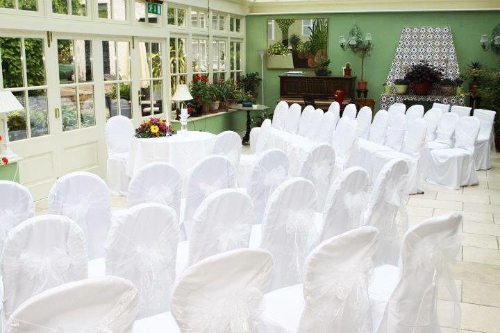 Civil ceremony set-up
