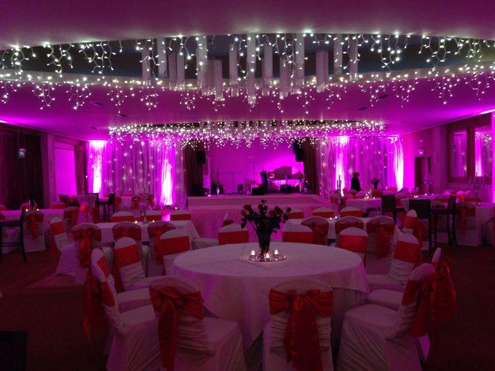 Valentines Night Wedding Set up