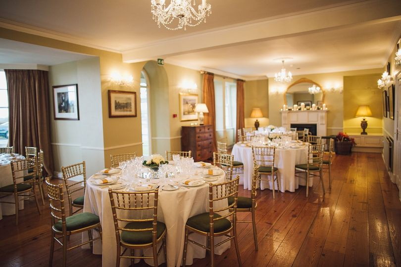 intimate wedding in the drawing room
