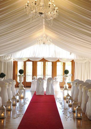 sample civil ceremony set up