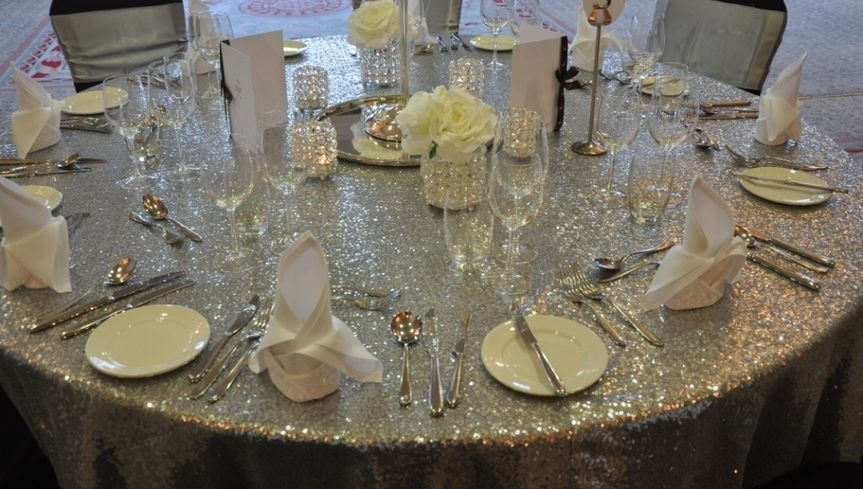 sample table set up
