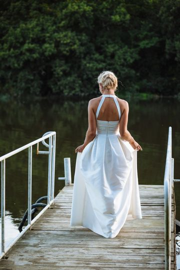 Real Bride on Pier at Innishannon House