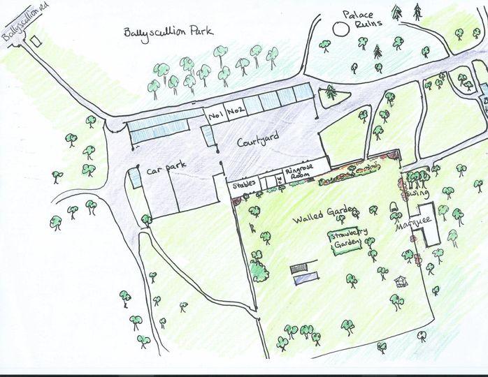 Plan of the wedding venue