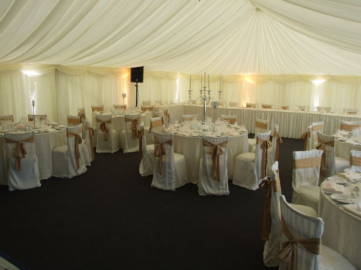 classic marquee white wedding