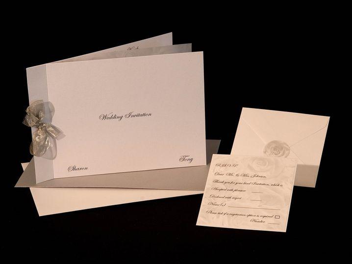 Silver invitation