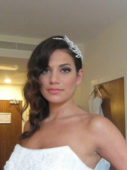 Bride in Hair piece