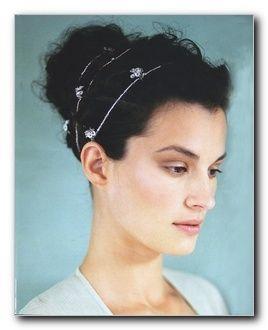 Grecian style wrap headpiece