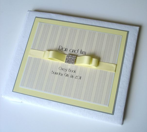 Lemon Yellow Guest Book