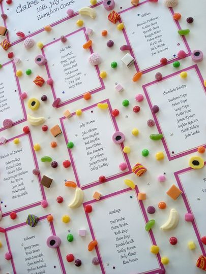 Sweetie Table Plan